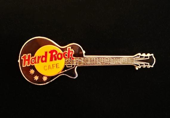 Vintage Hard Rock Cafe Morton Culver Black Gibson Les Paul Guitar Pin No Location