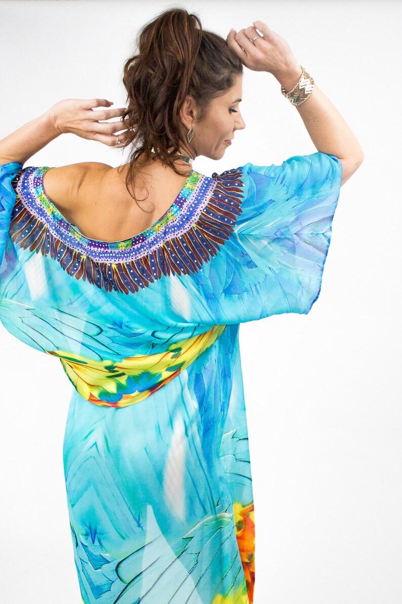 43571c44fb66 Two Piece Embellished Kaftan Boho Chic Strapless Dress | Etsy