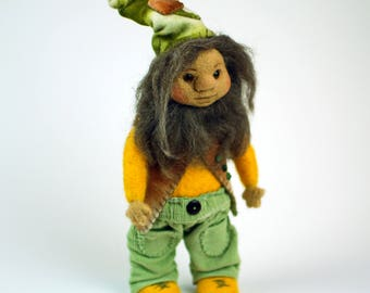 Needle Felted Gnome Valrick