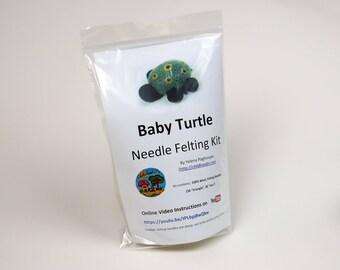 Handmade Baby Turtle Needle Felting Kit (Beginner level)