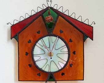 Stained Glass Cuckoo Clock