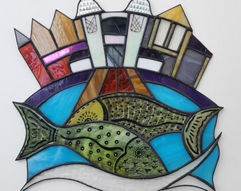Stained Glass Wall Panel