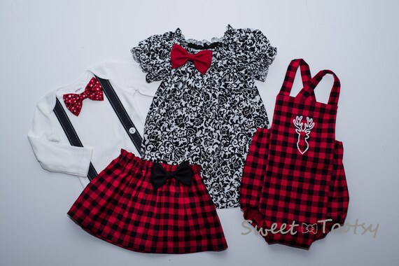 image 0 - Mix And Match Christmas Outfits Sister Brother Holiday Etsy