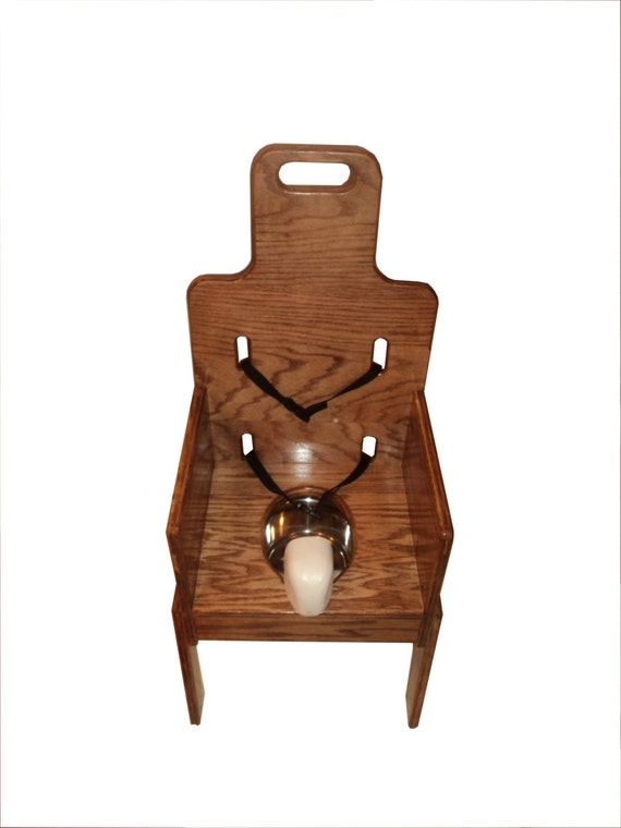 Adjustable Wooden Potty Chair With Tray Special Needs
