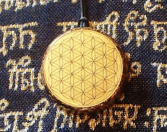 Flower of life Orgone pendant aura protect Orgone energy generator