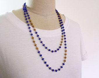 Long beaded necklace, Double wrap necklace, bead necklace, long necklace