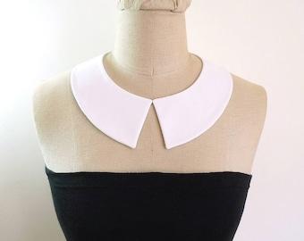 Peter Pan Collar Detachable Collar, white collar necklace