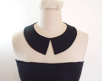 Peter Pan Collar Detachable Collar, black collar necklace