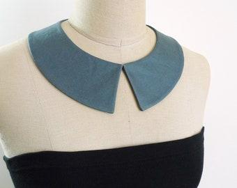 Peter Pan Collar. Grey collar necklace. Detachable Collar, Removable collar, fabric collar necklace