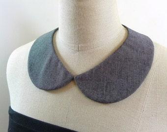 Peter Pan Collar. Grey collar necklace. Detachable Collar,Removable collar