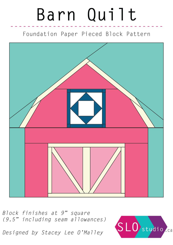Barn Quilt Foundation Paper Pieced Quilt Block Pattern Barn   Etsy