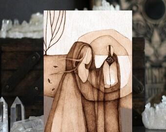 """Seeking the Night - 5"""" x 7"""" Postcard Print"""