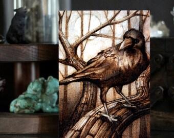"Nevermore - 5"" x 7"" Postcard Print - Raven Crow Art"