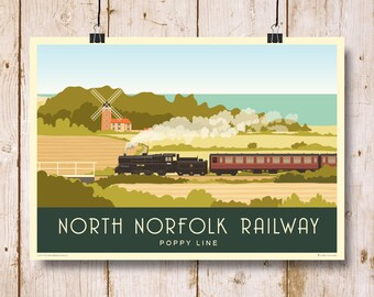 Vintage British Rail Kings Lynn Norfolk Railway Poster A4//A3//A2//A1 Print