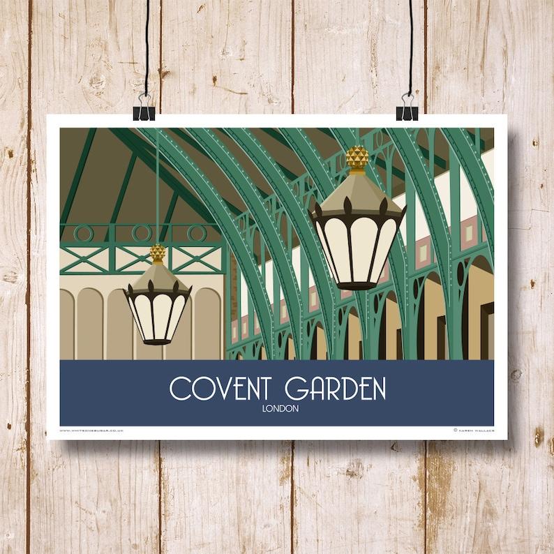 london art print travelrailway poster of covent garden