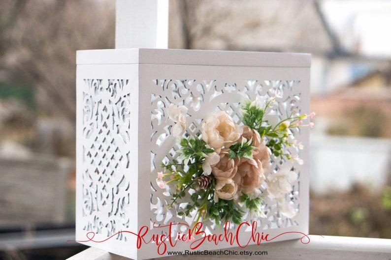 Wedding Card Box With Slot And Lock Wedding Card Holder Wedding Money Box Wedding Ideas White Wedding Card Boxes Greenery Wedding Decor
