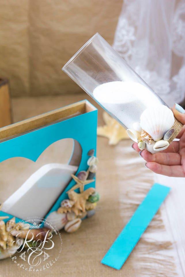 Einheit Sand Zeremonie Shadow-Box Strand Hochzeit Sand Set | Etsy