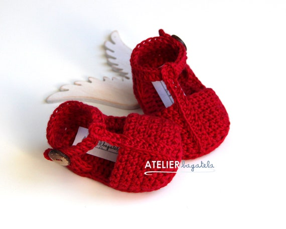 6b0225a619b0 ADELE Valentine s Day Baby Shoes Red Crochet Baby Girl