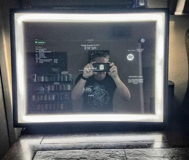 Alexa Smart Mirror w/SUPER Bright Capactive Touch Light  image 0