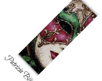 Face Peyote Pendant Culture Demon Peyote Japan Samurai Peyote Bracelet Even Count Peyote Japanese Hannya Mask 2 Peyote Bead Pattern