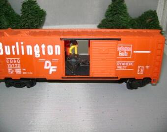 Rare Vintage BURLINGTON Loading Box Car
