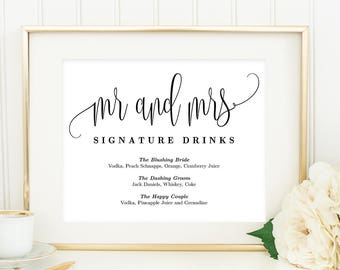 Mr Mrs Signature Etsy