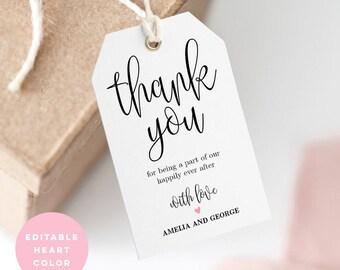 Wedding favor tag | Etsy