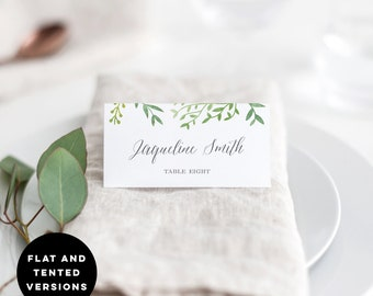 photo relating to Avery Printable Place Cards referred to as Avery Appropriate Printable Marriage Location Playing cards Template Etsy