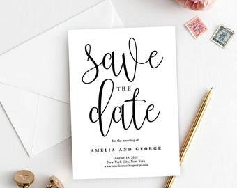 Save The Date Template | Save The Date Template Etsy