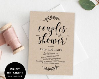 Couples shower invitation | Etsy