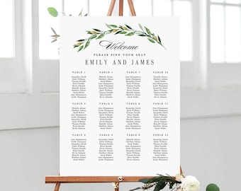 Seating chart poster etsy