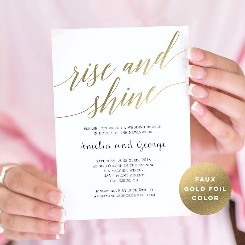 Wedding Brunch Or Breakfast Invitation Template