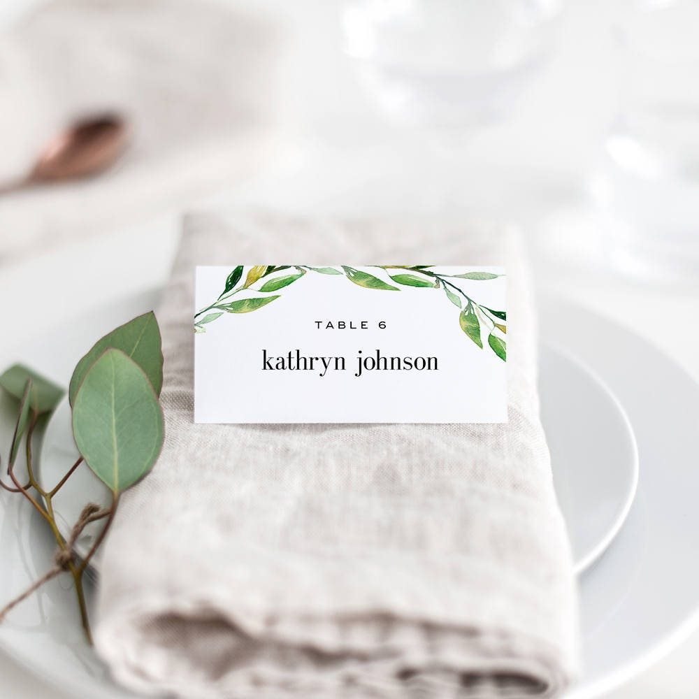 It is a photo of Juicy Avery Printable Place Cards