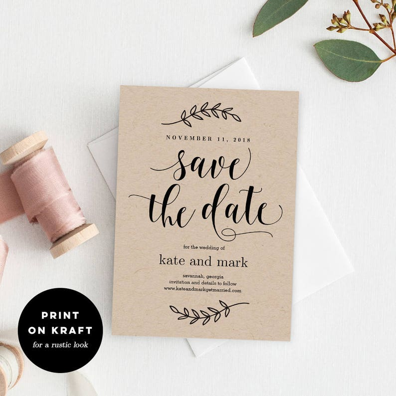 photograph about Printable Save the Date identify Printable Conserve The Day Template - Rustic Wedding day Preserve The Day Card - Immediate Obtain - Rustic Magnificence #REC