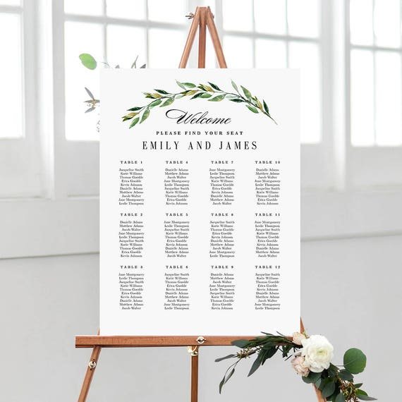 7 sizes wedding seating chart template editable wedding table etsy image 0 maxwellsz
