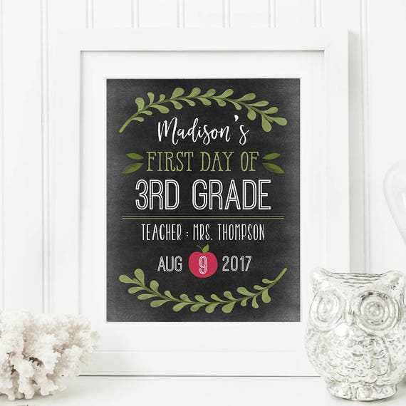 printable first and last day of school sign back to school etsy