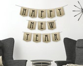Happy New Year Banner - New Year's Eve Banner - New Year's Banner - DIY Printable Banner - Silver Glitter - Gold Glitter - Instant Download