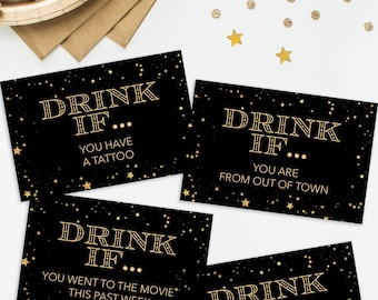 new years eve party game drink if game printable new years eve game new years eve decorations new years eve ideas happy new year