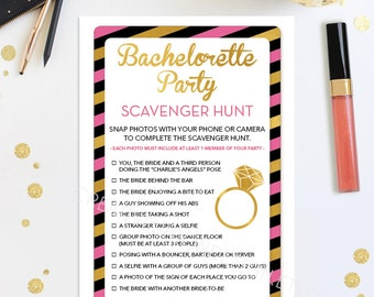 Instant Download - Bachelorette Scavenger Hunt - Bachelorette Party Game - DIY - Hen Party - Girls Night Out