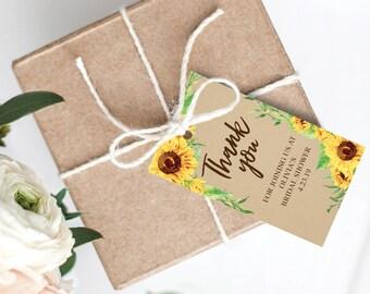 40c1f11db5b Sunflower gift tags | Etsy