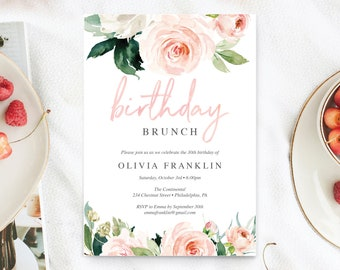 brunch invitation etsy