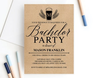 Bachelor Invitations Etsy