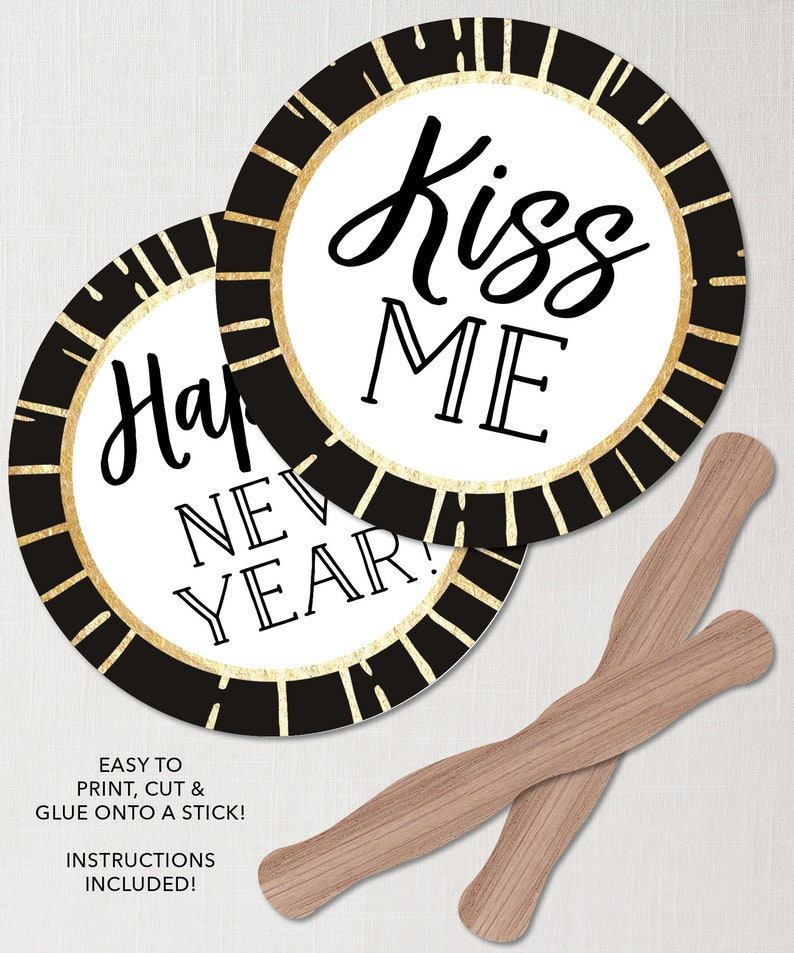 2021 New Years Eve Ideas New Years Eve Photo Booth Props   Etsy