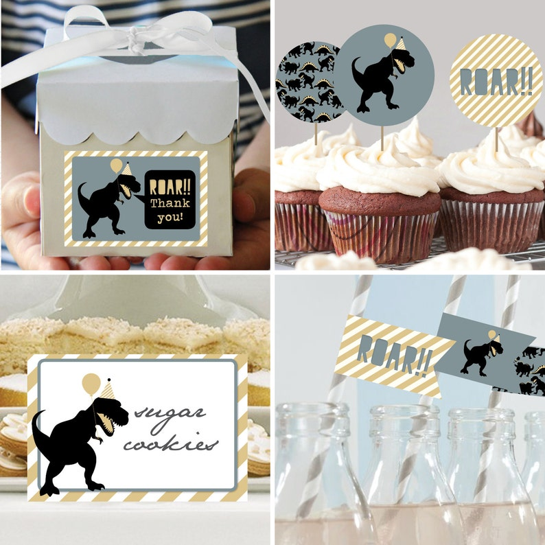 Dinosaur Birthday Decorations Package Printable