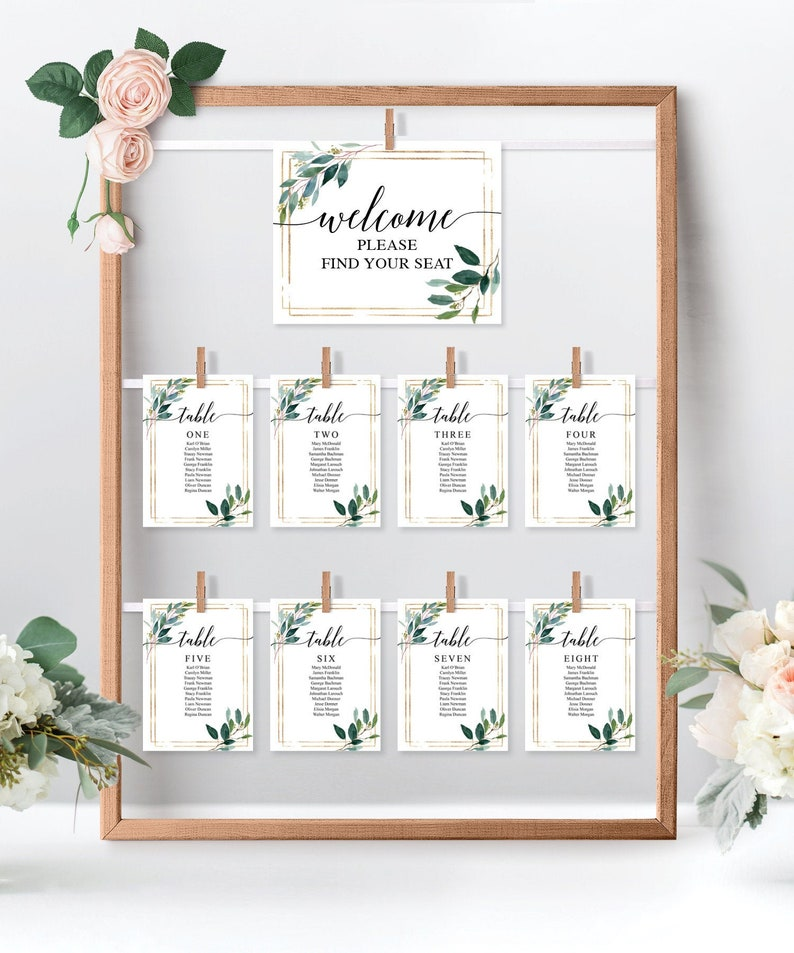 photograph regarding Printable Seating Cards titled Marriage Seating Chart Template - Printable Seating Playing cards - Desk Agreement - Seating Playing cards - Seating Chart Clearly show - Yard Vegetables