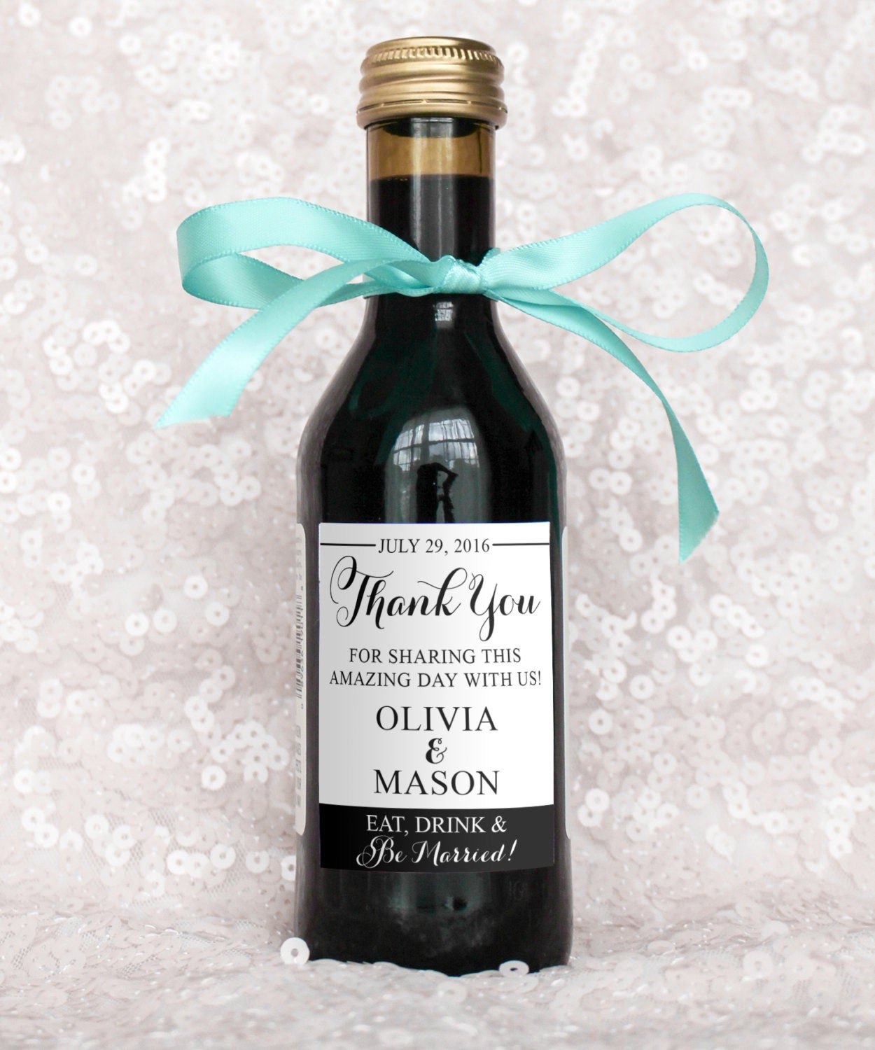 Fantastic Mini Wine Bottle Wedding Favors Image Collection - The ...
