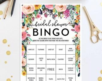 Bridal Shower Bingo Game - 76 Unique Game Sheets - Wedding Shower Game - Secret Garden - Shower Games - Bridal Bingo - Instant Download
