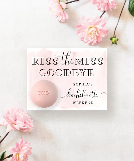 Lip Balm Bridal Shower Party Favors Thank You Gifts  Personalized Floral