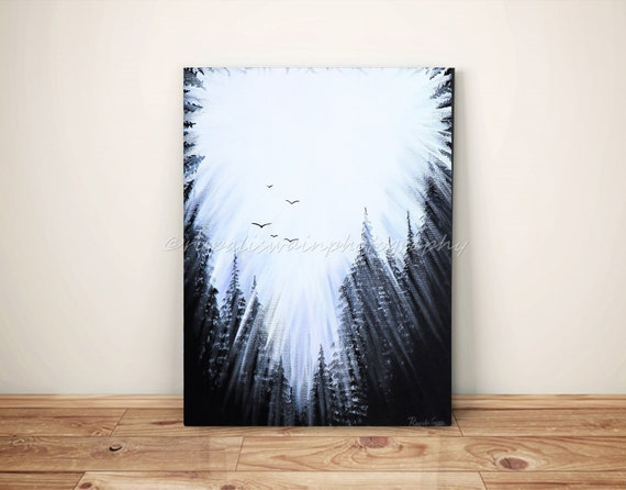Abstract Art Pine Trees