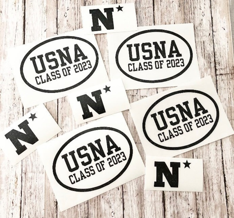 ANY CLASS year decal, College name oval vinyl decal, USNA car decal, Navy  Mom, Naval Academy, laptop sticker